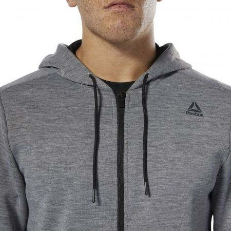 Мъжки суитшърт - Reebok WORKOUT READY MELANGE DOUBLE KNIT - 6