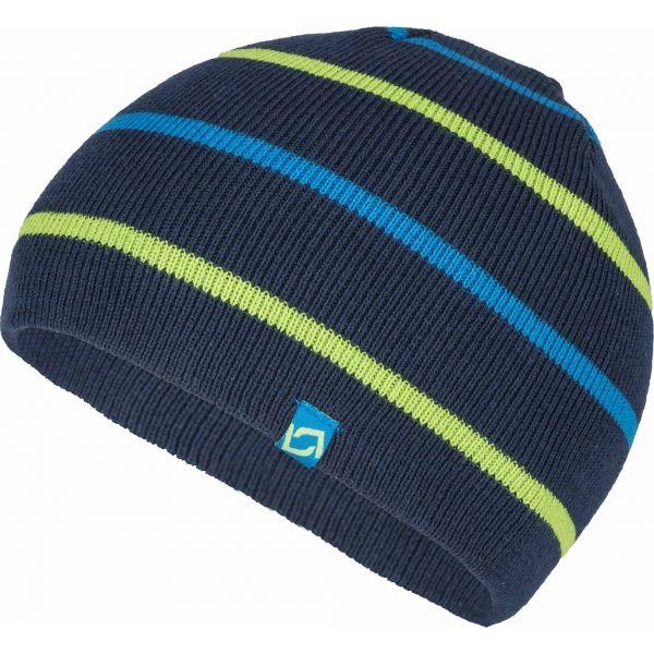 Lewro BENY tmavě modrá 8-11 - Chlapecká pletená čepice