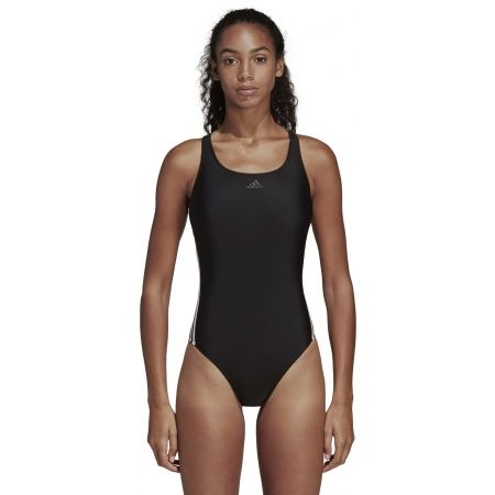 Women's swimsuit - adidas ATHLY V 3 STRIPES SWIMSUIT - 4