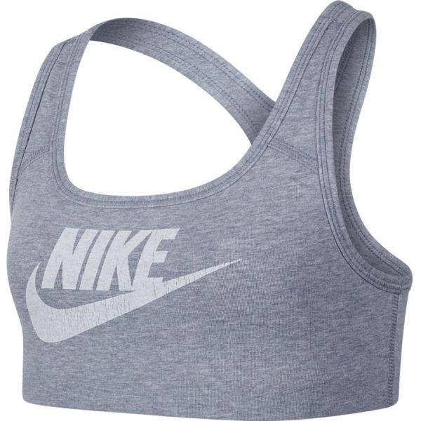 Nike BRA CLASSIC VENNER NSW šedá L - Dívčí sportovní podprsenka