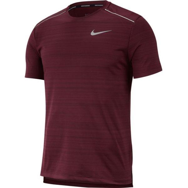 Nike NK DRY MILER TOP SS červená L - Pánské běžecké triko
