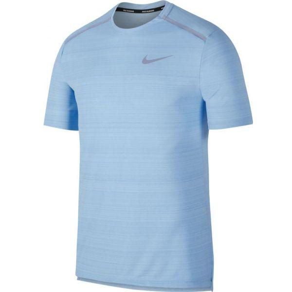 Nike NK DRY MILER TOP SS modrá L - Pánské běžecké triko