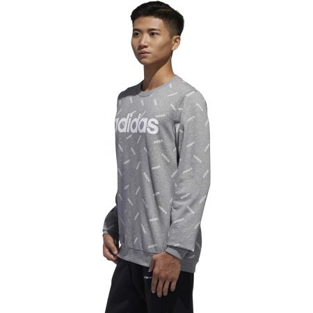 Men's sweatshirt - adidas PRINT SWEATSHIRT - 5