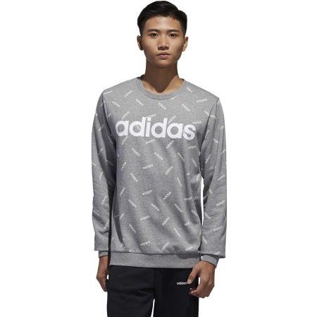 Men's sweatshirt - adidas PRINT SWEATSHIRT - 4