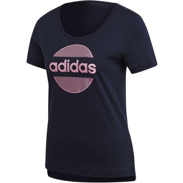 adidas LINEAR TEE II sötétkék L - Női póló