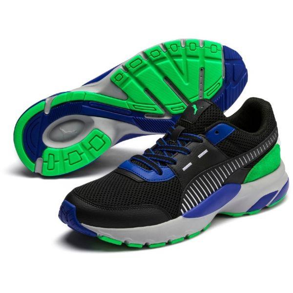 Puma FUTURE RUNNER PREMIUM černá 10.5 - Pánská volnočasová obuv