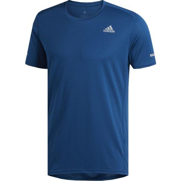 adidas RUN TEE M modrá XL - Pánské běžecké tričko
