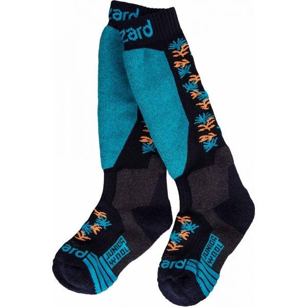 Blizzard ALLROUND WOOL SKI SOCKS JR - Detské lyžiarske ponožky