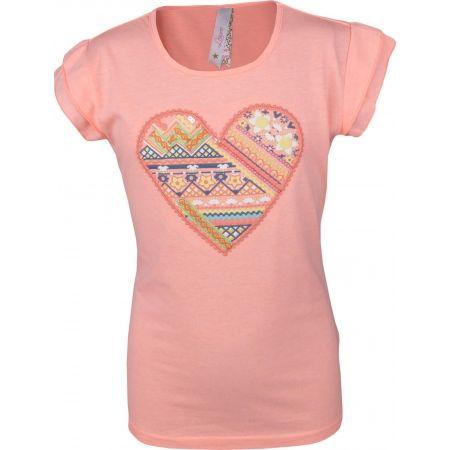 Dívčí triko s volánkovým rukávem - Lewro SOFI - 1