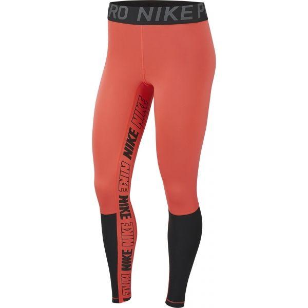 Nike NP SPRT DSTRT TGHT oranžová L - Dámské legíny