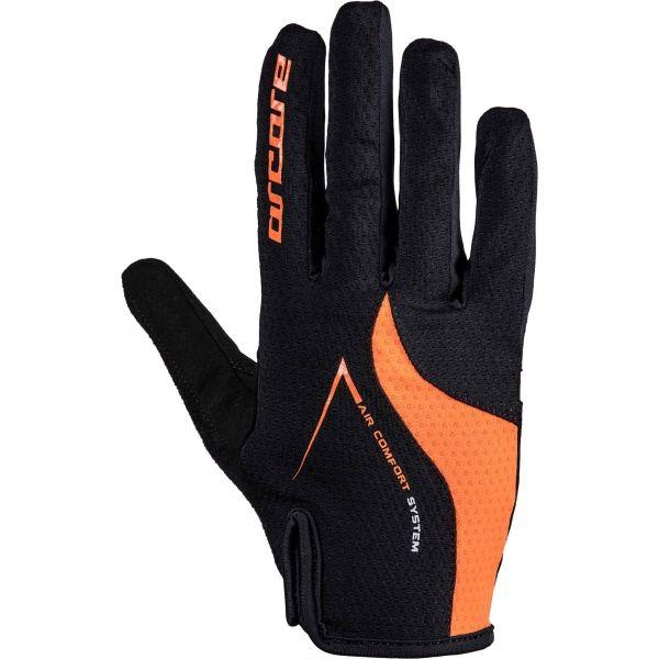 Arcore HIVE oranžová L - Dlouhoprsté cyklistické rukavice