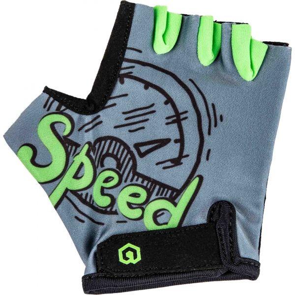 Arcore LUKE šedá 4 - Dětské cyklistické rukavice