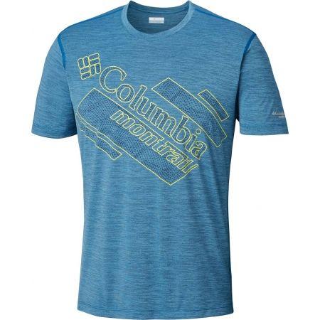 Pánské sportovní tričko - Columbia TRINITY TRAIL 2.0 GRAPHIC SHORT SLEEVE - 1
