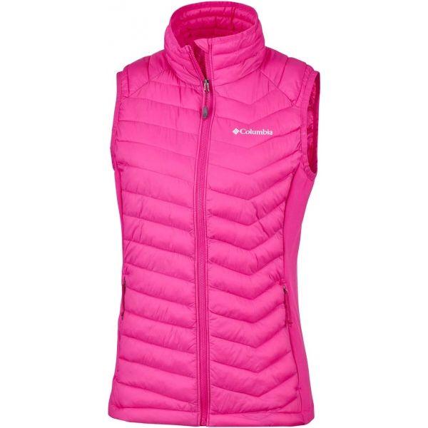 Columbia POWDER PASS VEST W růžová L - Dámská outdoorová vesta