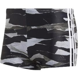 adidas FITNESS 3-STRIPES GRAPHIC SWIM BOXER - Șort de baie bărbați