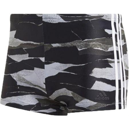 Pánské plavecké šortky - adidas FITNESS 3-STRIPES GRAPHIC SWIM BOXER - 1