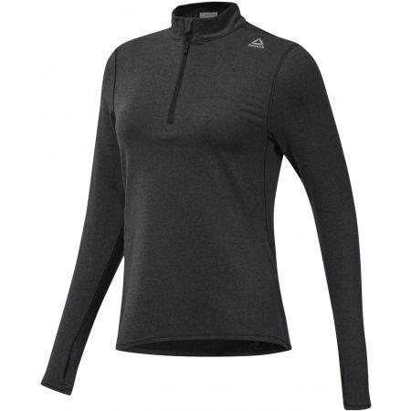 Women's sports sweatshirt - Reebok RUNNING ESSENTIALS 1/4 ZIP TOP - 1