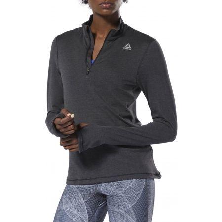 Women's sports sweatshirt - Reebok RUNNING ESSENTIALS 1/4 ZIP TOP - 3