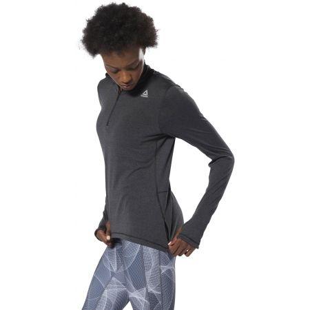 Women's sports sweatshirt - Reebok RUNNING ESSENTIALS 1/4 ZIP TOP - 4