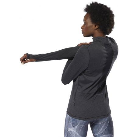 Women's sports sweatshirt - Reebok RUNNING ESSENTIALS 1/4 ZIP TOP - 5