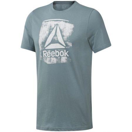 Reebok GS STAMPED LOGO CREW - Pánske tričko
