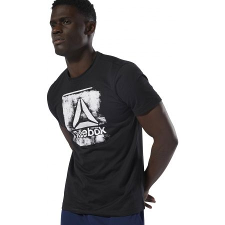 Men's T-shirt - Reebok GS STAMPED LOGO CREW - 3