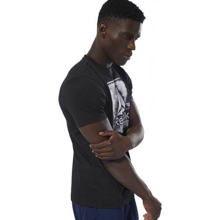 Men's T-shirt - Reebok GS STAMPED LOGO CREW - 4
