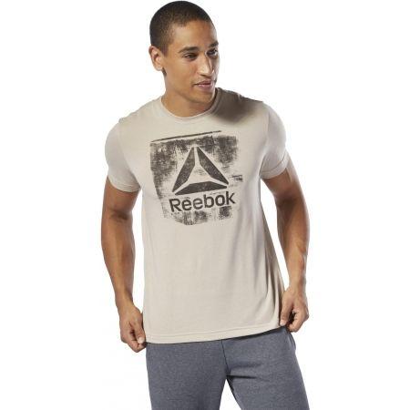 Pánske tričko - Reebok GS STAMPED LOGO CREW - 3