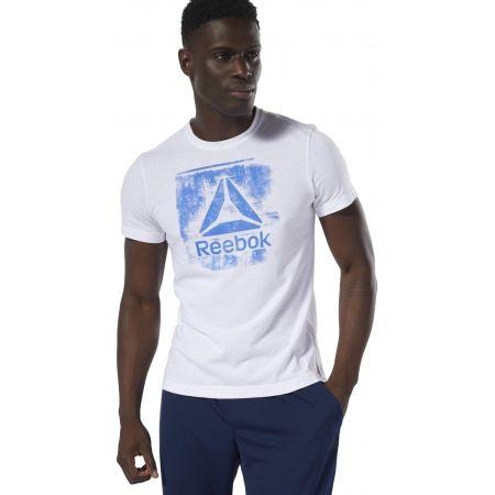 Мъжка  тениска - Reebok GS STAMPED LOGO CREW - 2