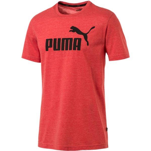 Puma SS HEATHER TEE czerwony XXL - Koszulka męska