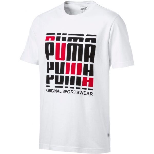 Puma TEE bílá S - Pánské stylové tričko
