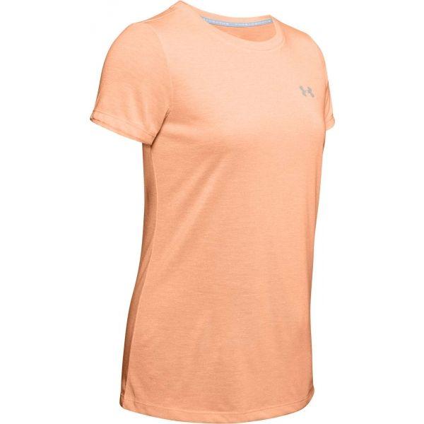 Under Armour THREADBORNE TRAIN TWIST oranžová XS - Dámske tričko