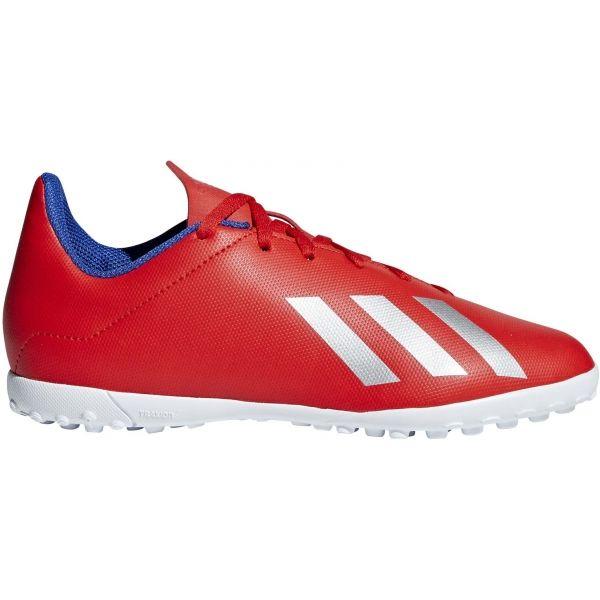 adidas X 18.4 TF J szürke 4 - Fiú turf futballcipő