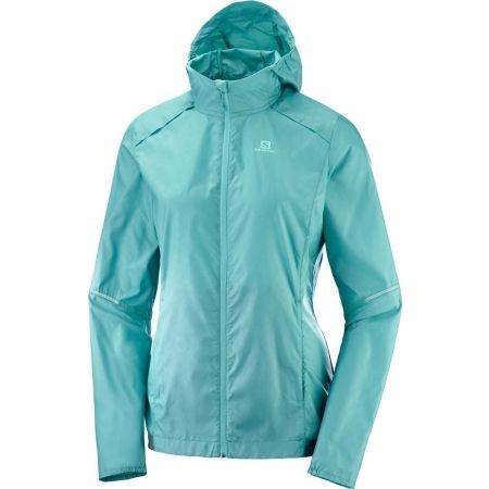 Dámska bežecká bunda - Salomon AGILE WIND PRINT HOODIE W - 1