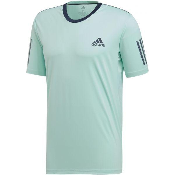 adidas CLUB 3 STRIPES TEE světle zelená S - Pánské tričko