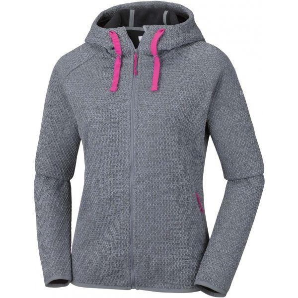 Columbia PACIFIC POINT FULL ZIP HOODIE szürke S - Női pulóver