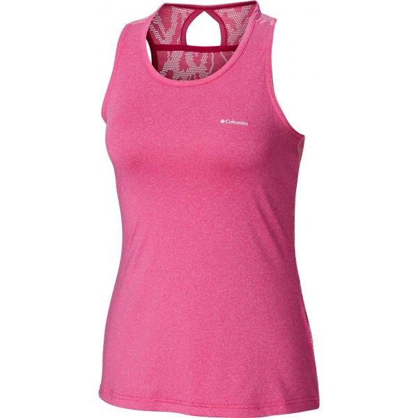 Columbia PEAK TO POINT NOVELTY TANK rózsaszín S - Női sportos ujjatlan felső