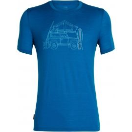 Icebreaker TECH LITE SS CREWE SURFSPOT CAMPER - Men's sports T-shirt