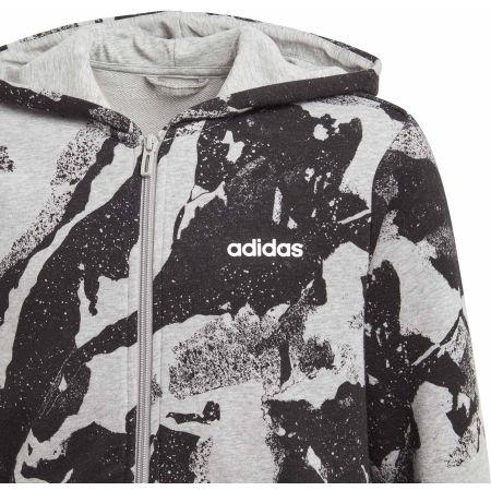 Boys' sweatshirt - adidas ESSENTIALS LINEAR AOP HOODIE - 2