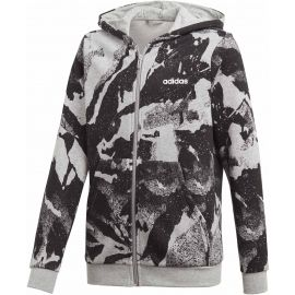 adidas ESSENTIALS LINEAR AOP HOODIE - Boys' sweatshirt