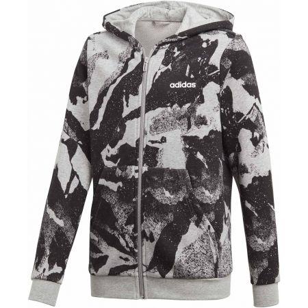 Boys' sweatshirt - adidas ESSENTIALS LINEAR AOP HOODIE - 1