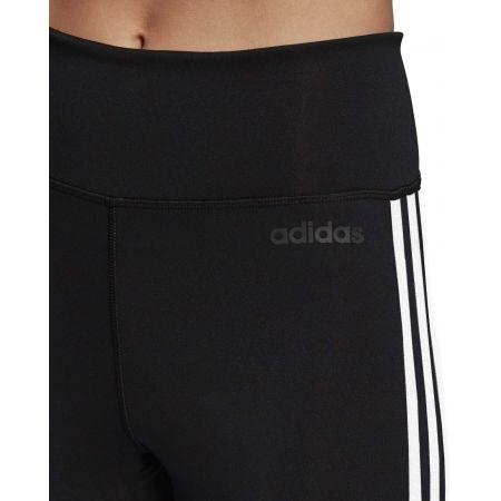Damen Leggings - adidas D2M HR 34 3 STRIPES - 7