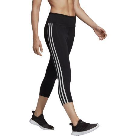 Damen Leggings - adidas D2M HR 34 3 STRIPES - 5