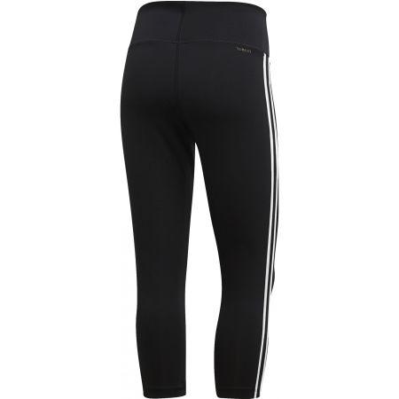Damen Leggings - adidas D2M HR 34 3 STRIPES - 2