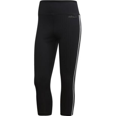 Damen Leggings - adidas D2M HR 34 3 STRIPES - 1