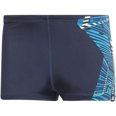 Pánské plavecké boxerky - adidas PRO PLACED GRAPHIC SWIM BOXER - 1