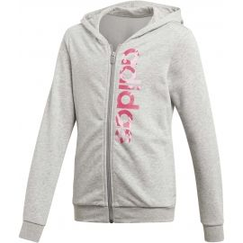 adidas ESSENTIALS LINEAR AOP HOODIE - Girls' sweatshirt
