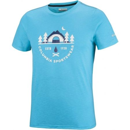 Columbia NELSON POINT GRAPHIC SHORT SLEEVE TEE - Pánské triko