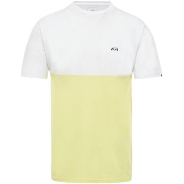 Vans COLORBLOCK TEE sárga L - Férfi póló