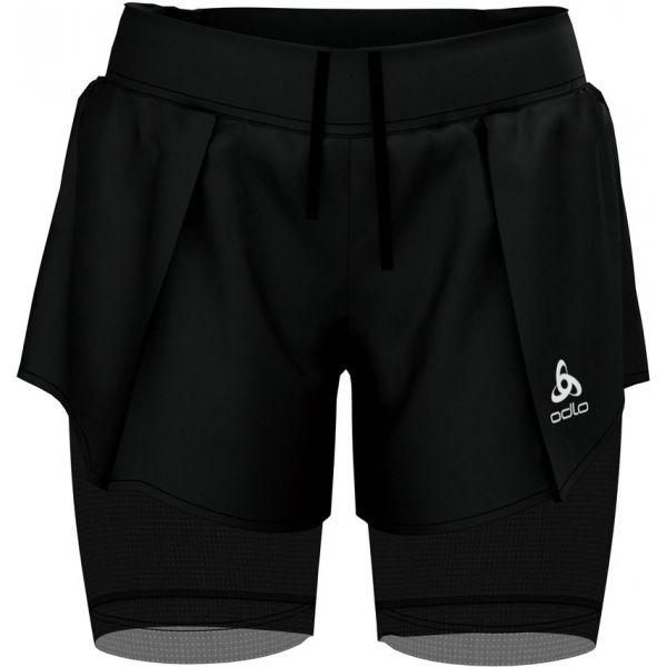 Odlo 2IN1 SHORTS ZEROWEIGHT CERAMICOOL PRO čierna M - Dámske šortky